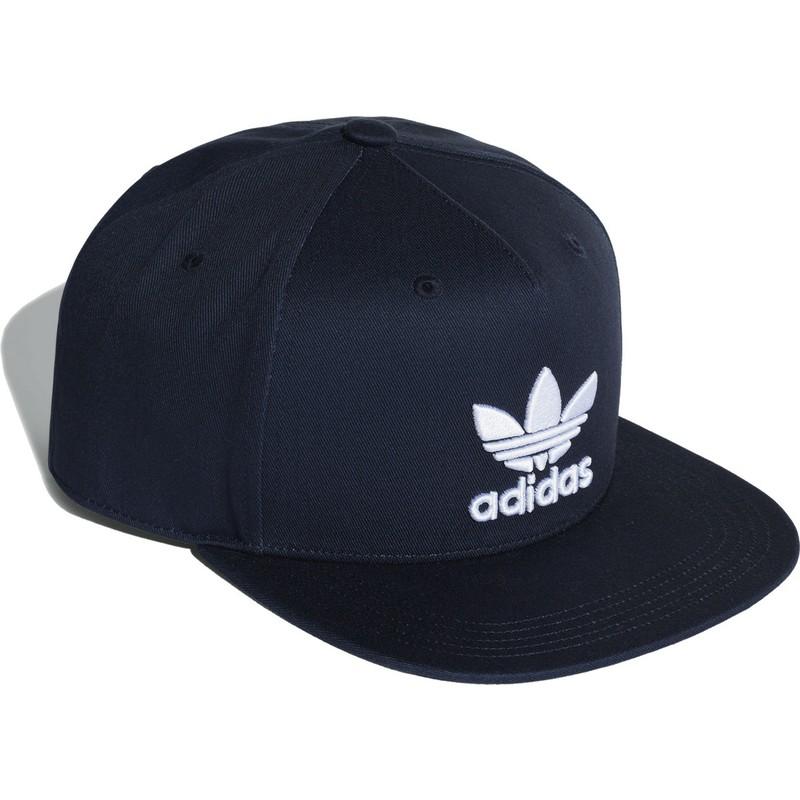 a79233ad61e Adidas Flat Brim Trefoil Navy Blue Snapback Cap  Shop Online at ...