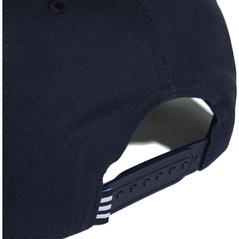 a725aade Adidas Flat Brim Trefoil Navy Blue Snapback Cap: Shop Online at ...