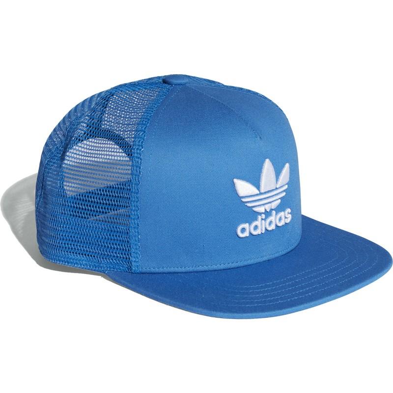 b5d45ba17 Adidas Trefoil Blue Trucker Hat