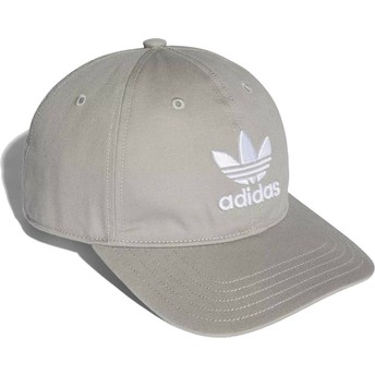 Adidas Curved Brim Trefoil Classic Grey Adjustable Cap