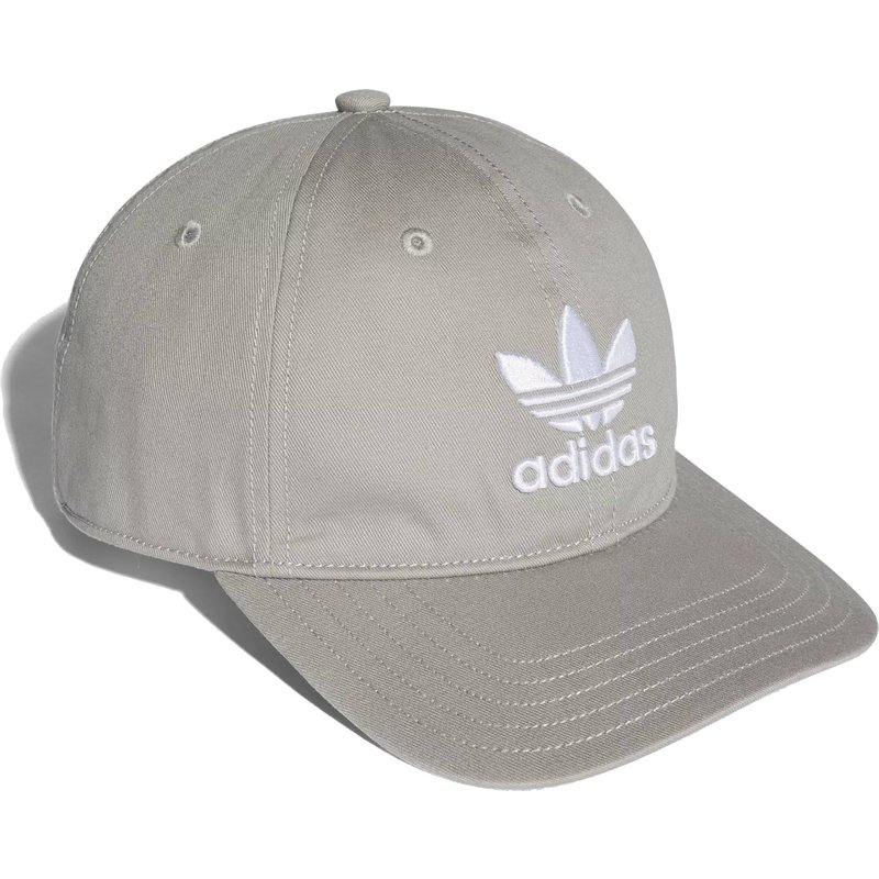 7f86d625fe6 Adidas Curved Brim Trefoil Classic Grey Adjustable Cap