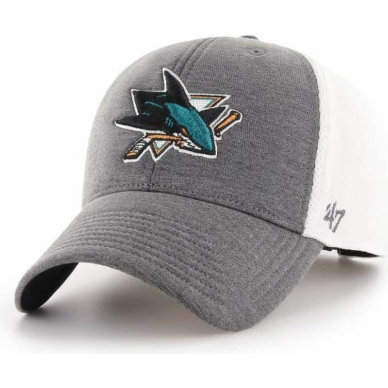 Eishockey 47brand San Jose Sharks Mvp Curved Adjustable Cap Fanartikel