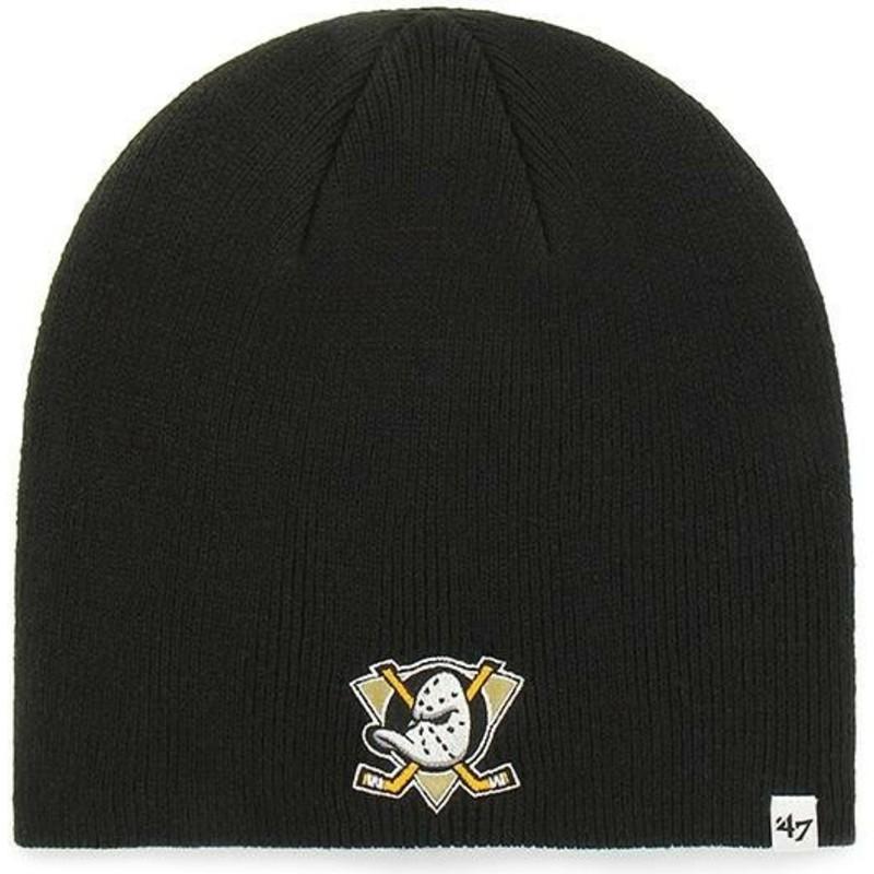 e502e293976 47 Brand Anaheim Ducks NHL Black Beanie  Shop Online at Caphunters