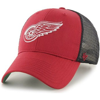 47 Brand Detroit Red Wings NHL MVP Branson Red Trucker Hat