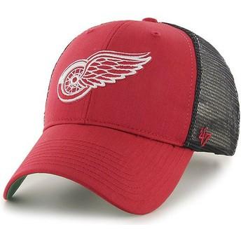 47 Brand Detroit Red Wings NHL MVP Branson Red Trucker Hat