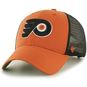 47 Brand Philadelphia Flyers NHL MVP Branson Orange Trucker Hat