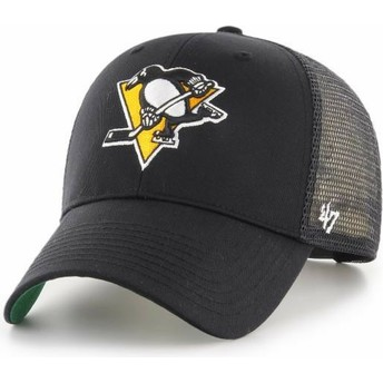 47 Brand Pittsburgh Penguins NHL MVP Branson Black Trucker Hat