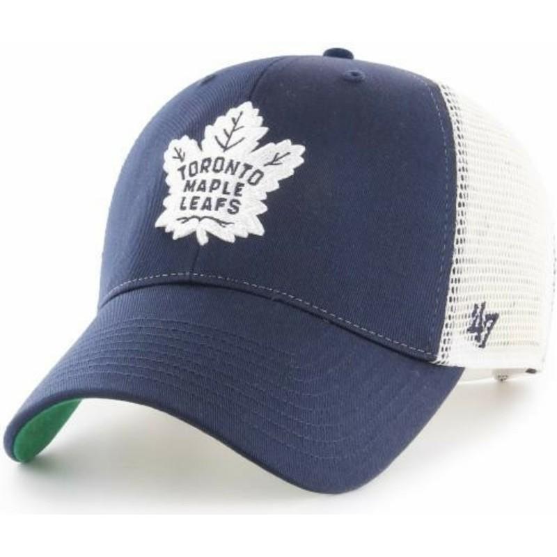 47 Brand Toronto Maple Leafs NHL MVP Branson Navy Blue Trucker Hat ... fba1f940c91