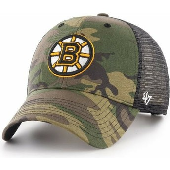 47 Brand Boston Bruins NHL MVP Branson Camouflage Trucker Hat
