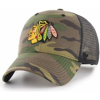 Gorra trucker camuflaje de Chicago Blackhawks NHL MVP Branson de 47 Brand