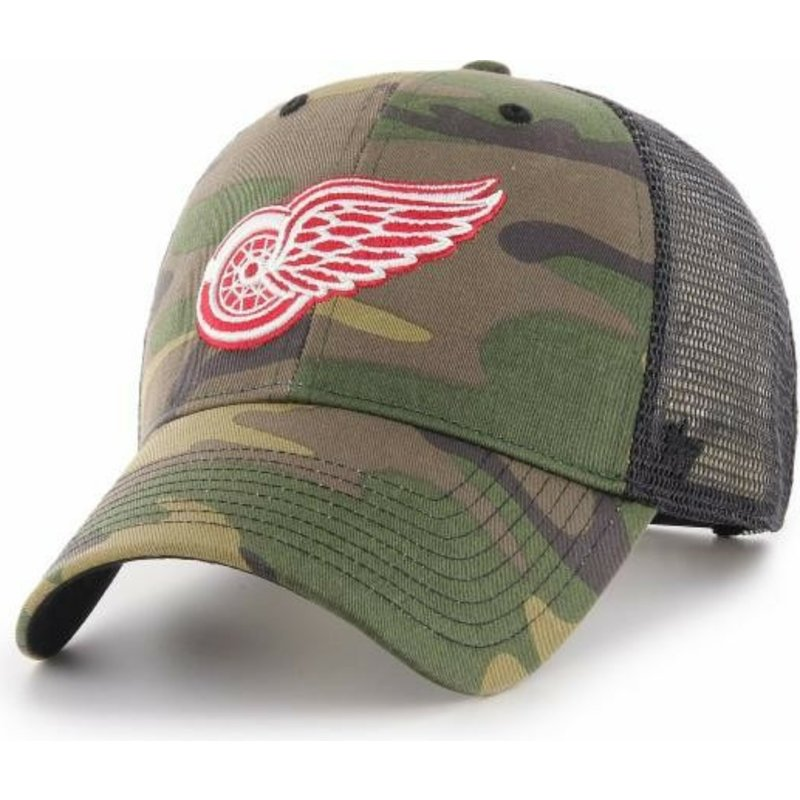 47 Brand Detroit Red Wings NHL MVP Branson Camouflage Trucker Hat ... 407db6841e5
