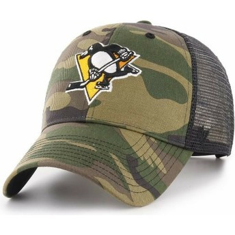 47 Brand Pittsburgh Penguins NHL MVP Branson Camouflage Trucker Hat