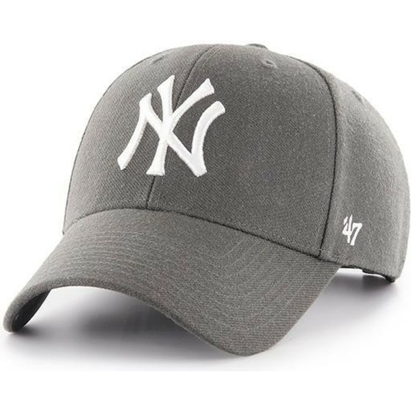 47-brand-curved-brim-new-york-yankees-mlb-mvp-stone-adjustable-cap