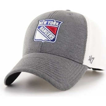 47 Brand Curved Brim New York Rangers NHL MVP Haskell Grey Cap