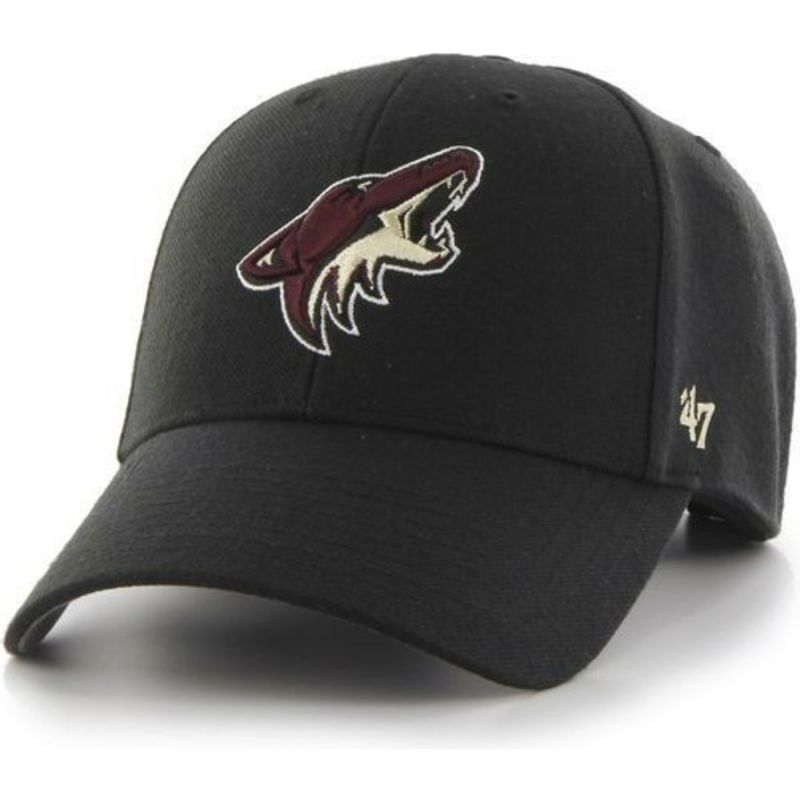 online store c5cbe 72e61 47 Brand Curved Brim Arizona Coyotes NHL MVP Black Cap