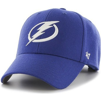 47 Brand Curved Brim Tampa Bay Lightning NHL MVP Blue Cap
