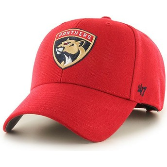 Gorra curva roja de Florida Panthers NHL MVP de 47 Brand