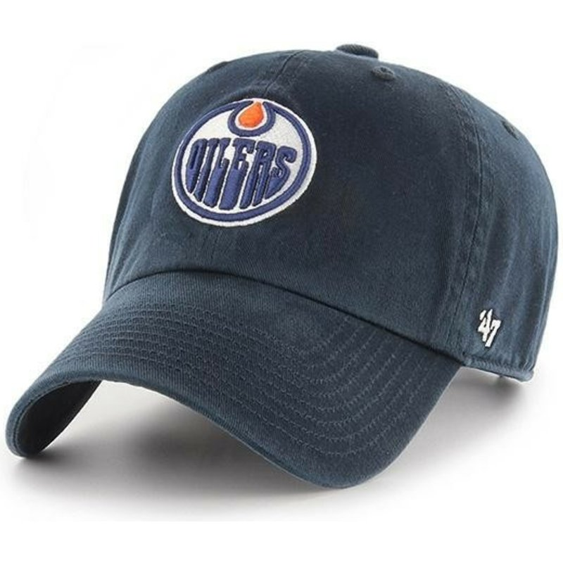 47-brand-curved-brim-edmonton-oilers-nhl-clean-up-navy-blue-cap