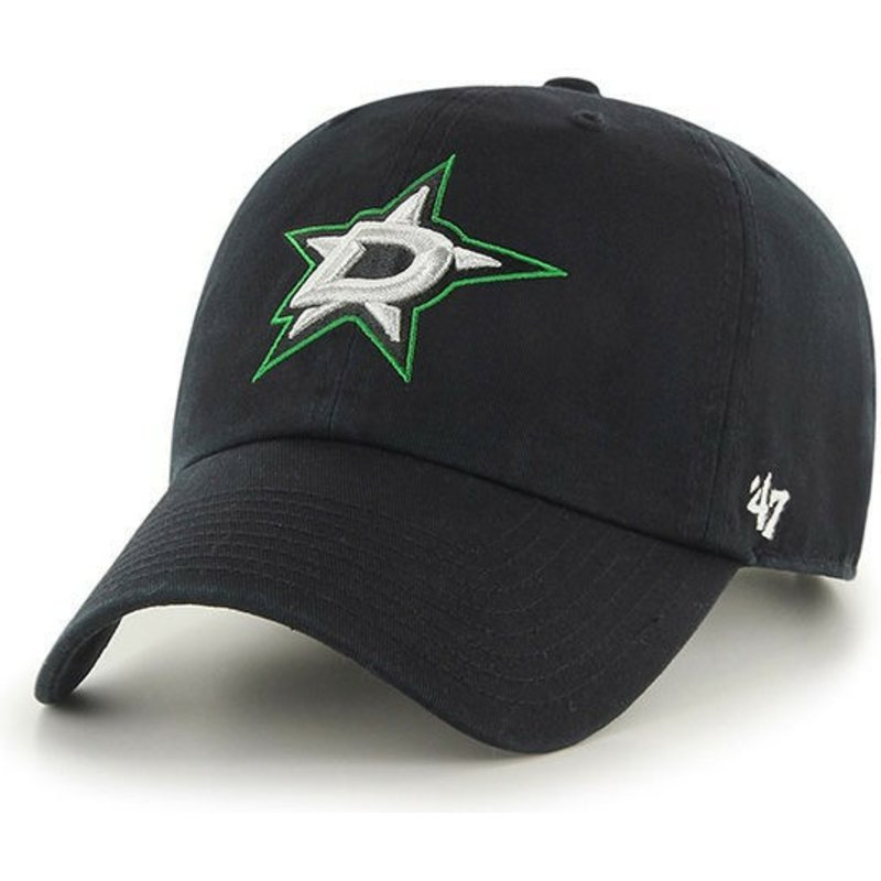 35a36e06e0d27e 47 Brand Curved Brim Dallas Stars NHL Clean Up Black Cap: Shop ...