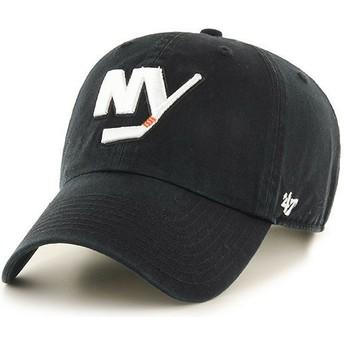 47 Brand Curved Brim New York Islanders NHL Clean Up Black Cap