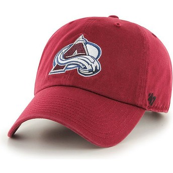 47 Brand Curved Brim Colorado Avalanche NHL Clean Up Red Cap