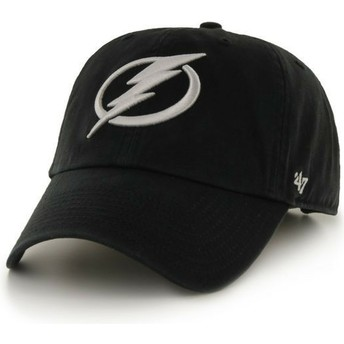 47 Brand Curved Brim Columbus Blue Jackets NHL Clean Up Black Cap