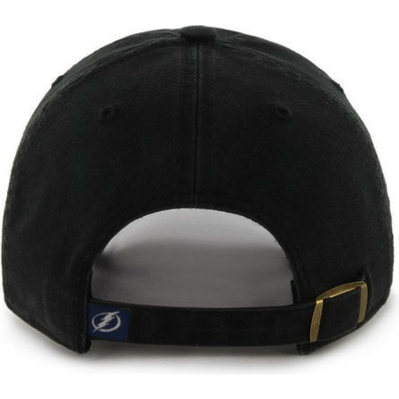 f2ff0a5360a992 47 Brand Curved Brim Columbus Blue Jackets NHL Clean Up Black Cap ...