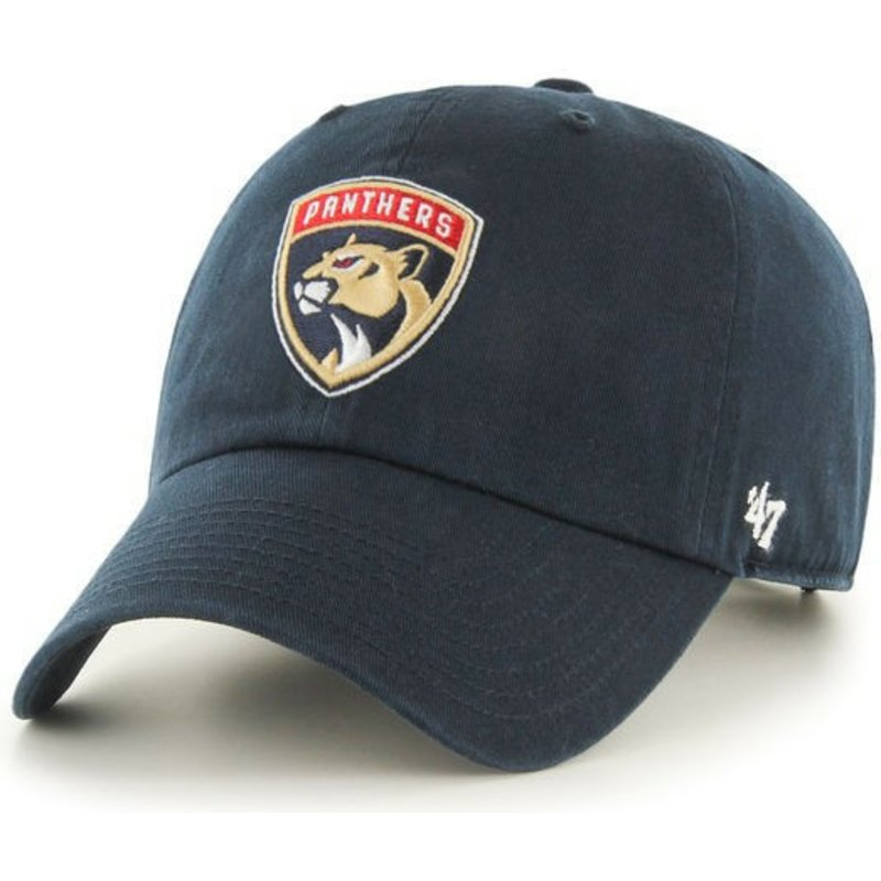 47-brand-curved-brim-florida-panthers-nhl-clean-up-navy-blue-cap
