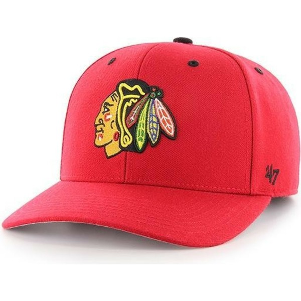 47-brand-curved-brim-chicago-blackhawks-nhl-mvp-dp-audible-red-cap