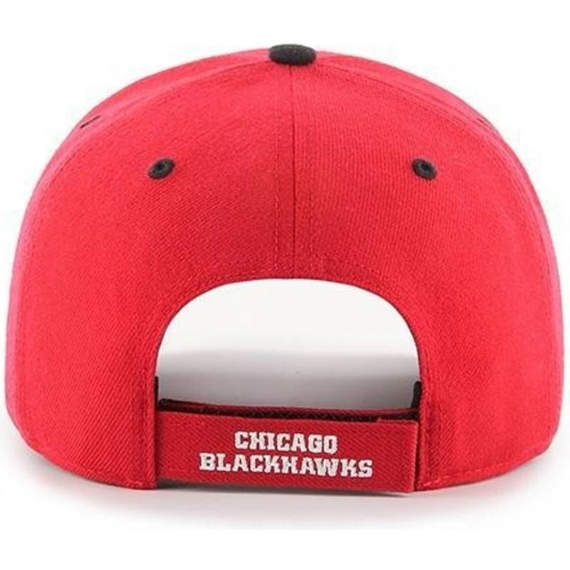 284cb404e79 47 Brand Curved Brim Chicago Blackhawks NHL MVP DP Audible Red Cap ...