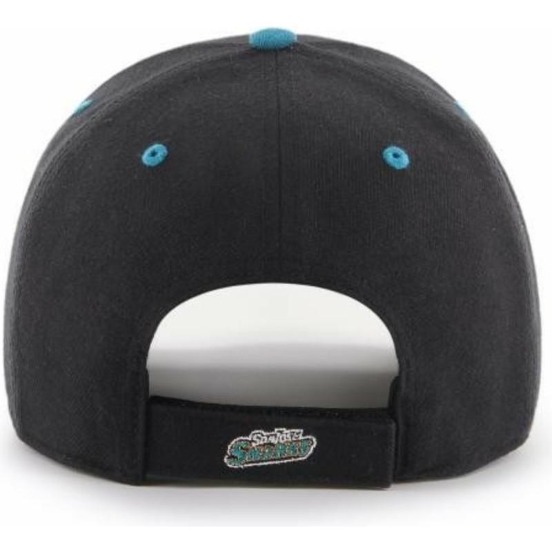 736b25801f2af3 47 Brand Curved Brim San Jose Sharks NHL MVP DP Audible Black Cap ...