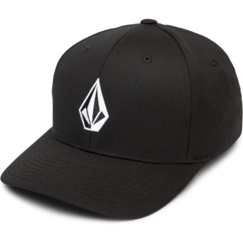 Volcom Curved Brim Black Full Stone Xfit Black Fitted Cap