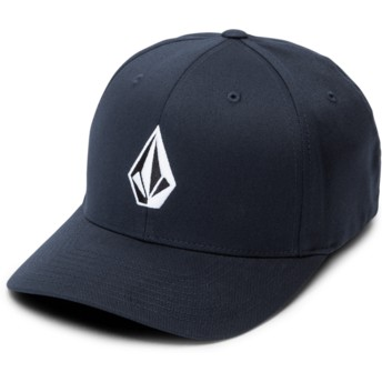 Volcom Curved Brim Navy Full Stone Xfit Navy Blue Fitted Cap