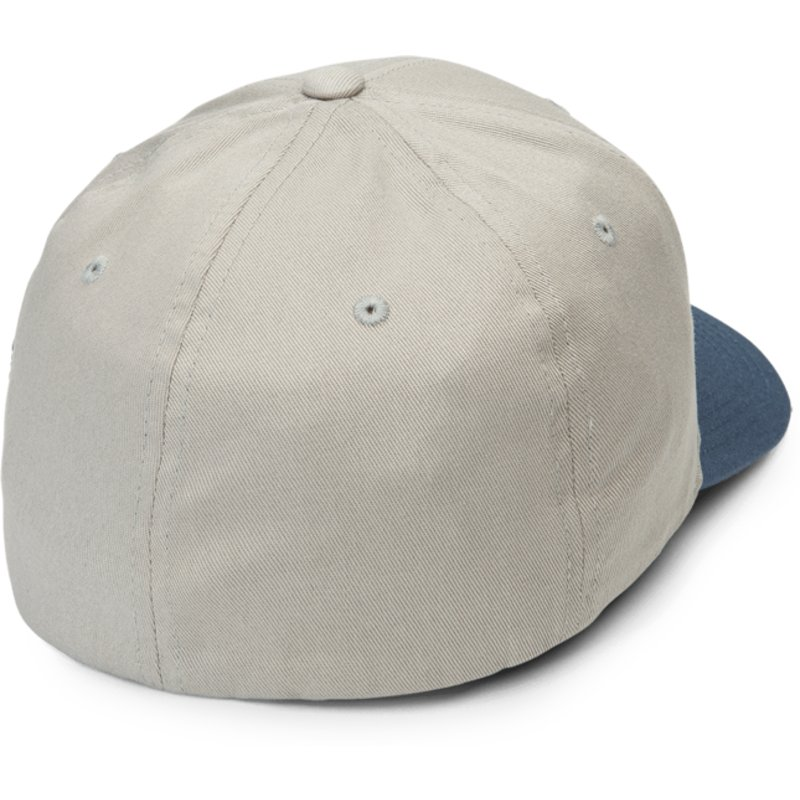 ebc11a6a86e Volcom Curved Brim Wrecked Indigo Full Stone Xfit Grey Fitted Cap ...