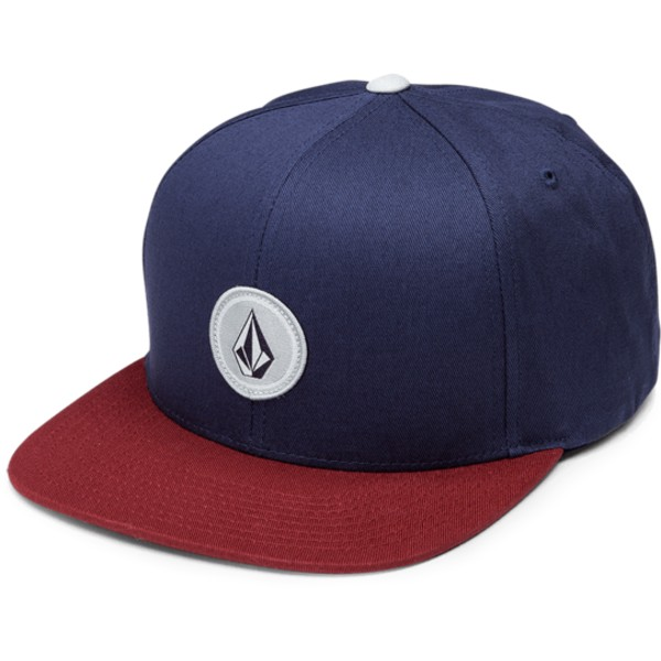 volcom-flat-brim-indigo-quarter-twill-navy-blue-snapback-cap-with-red-visor