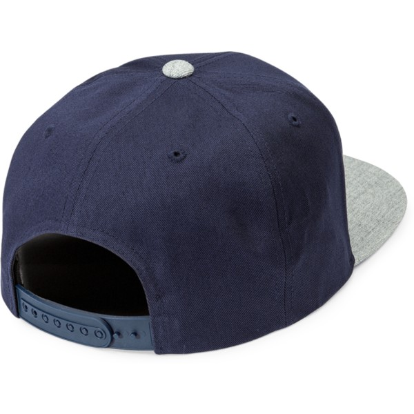 volcom-flat-brim-misty-blue-quarter-twill-navy-blue-snapback-cap-with-grey-visor