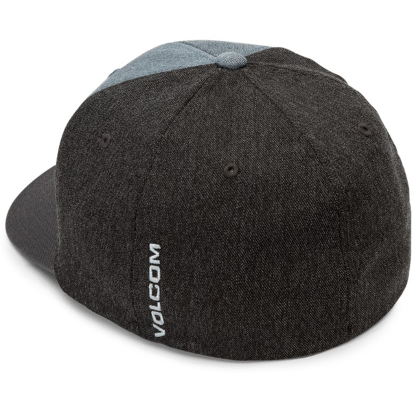 volcom-curved-brim-blue-black-full-stone-hthr-xfit-blue-and-black-fitted-cap