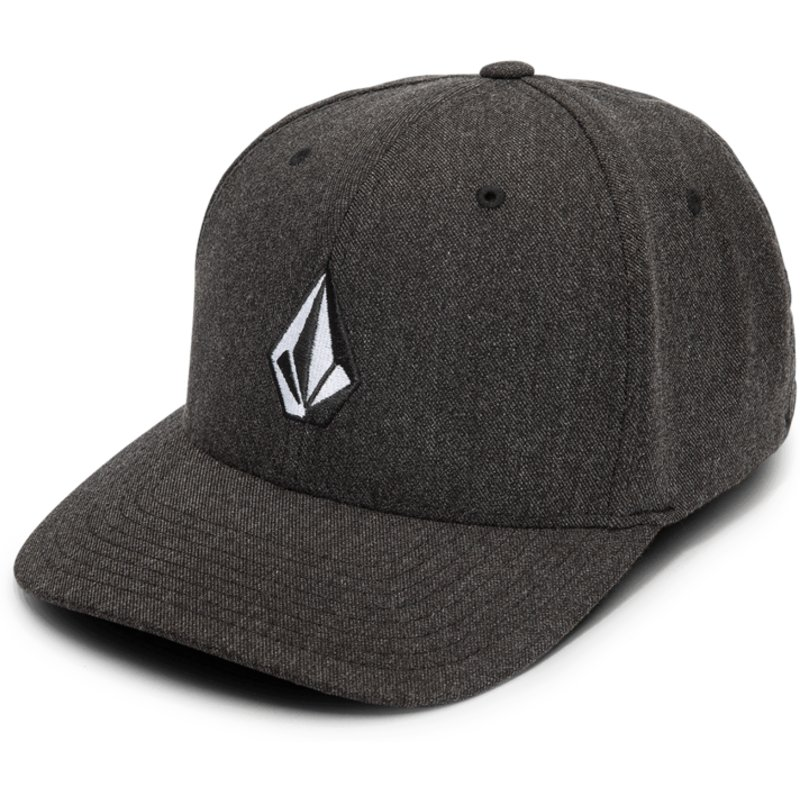 1874ae124f9 ... new era cap a4cd0 b35be  official volcom curved brim charcoal heather  full stone hthr xfit black fitted cap shop online at