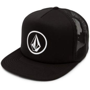 Volcom Black Full Frontal Cheese Black Trucker Hat