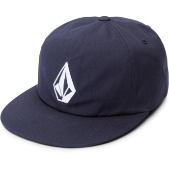 Volcom Flat Brim Navy Stone Battery Navy Blue Adjustable Cap