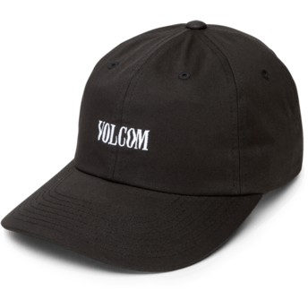 Volcom Curved Brim Black Weave Black Adjustable Cap