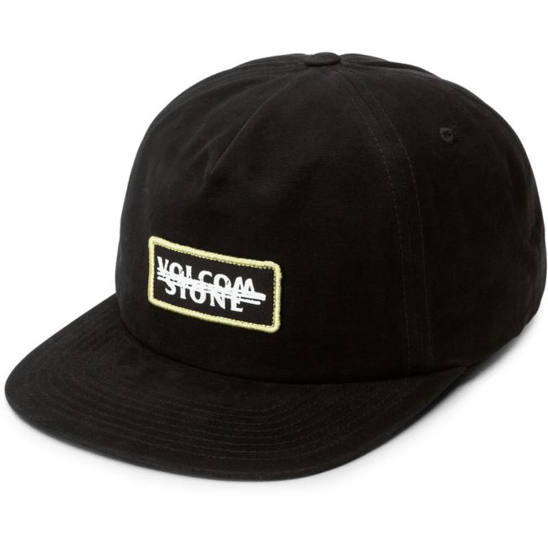 940f49aa3a0 Volcom Flat Brim Black Scribble Stone Black Snapback Cap  Shop ...