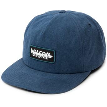 Volcom Flat Brim Navy Scribble Stone Navy Blue Snapback Cap