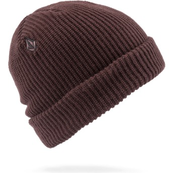 Volcom Bordeaux Brown Full Stone Maroon Beanie
