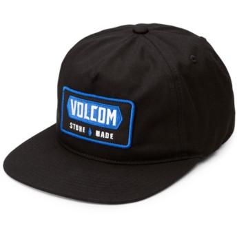 Volcom Flat Brim Black Shop Black Snapback Cap