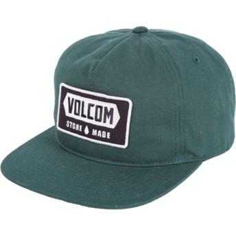 Volcom Flat Brim Dark Green Shop Green Snapback Cap