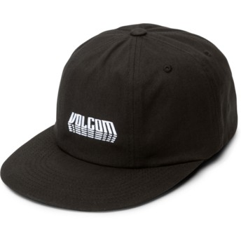 Volcom Curved Brim Black Shift Stone Black Adjustable Cap