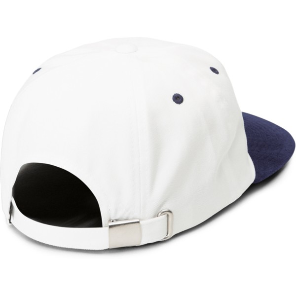 volcom-curved-brim-midnight-blue-shift-stone-white-adjustable-cap-with-navy-blue-visor