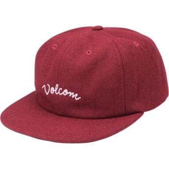 Volcom Flat Brim Port Wooly Red Adjustable Cap