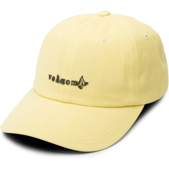 Volcom Curved Brim Acid Yellow Stonographer Yellow Adjustable Cap